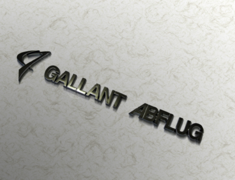 - Colour: Silver - Size: W180mm H38mm - GALLANT ABFLUG Emblem ver.03