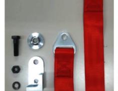Laurel - C35 - Belt & Adapter Set for U-shaped Tow Hook - Colour: Red - Length: 30cm - Strength: 3000kg - HPCG-TBADP103