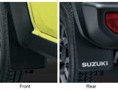 Jimny Sierra - JB74W - Mud Flaps - Black/White Logo - Category: Exterior - 72201-77R00-BK1