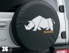 Jimny Sierra - JB74W - Spare Tire Cover - Rhino - Category: Exterior - 9923B-78R30-002