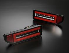 Jimny - JB64W - Color: Clear Lens, Inner Black Chrome / Red Bar - ltl-sk1800-sjy18v1-cbcr