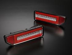 Jimny - JB64W - Color: Clear Lens, Inner Chrome / Red Bar - ltl-sk1800-sjy18v1-ccr