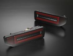 Jimny - JB64W - Color: Smoked Lens, Inner Black Chrome / Red Bar - ltl-sk1800-sjy18v1-sbcr