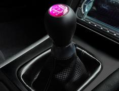 Silvia - S13 - Colour: Black / Pink - Badge: 5MT - Thread: M10 x 1.25 - YF-S13-SKSBS