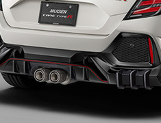 Civic Type R - FK8 - Rear Under Spoiler (colored x glossy black paint finish) - Construction: PPE - Colour: Brilliant Sporty Blue Metallic (BT) - Colour: Championship White (CW) - Colour: Crystal Black Pearl (CB) - Colour: Flame Red (FR) - Base Color: Glossy Black - 84111-XNCF-K0S0-##