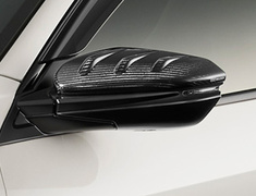 Civic Type R - FK8 - Carbon Door Mirror Covers - Construction: Dry Carbon - Colour: UV Clear Coat - 76205-XNL-K0S0