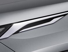 RAV4 Hybrid - AXAH52 - Cool Shine Kit: Front Grill Garnish + Headlamp Garnish + Backdoor Garnish - Construction: ABS - Colour: Black x Plating - D2020-60310