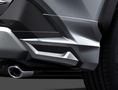 RAV4 Hybrid - AXAH52 - Rear Spats - Construction: ABS - Colour: Attitude Black Mica: C0 - Colour: Gray Metallic: B1 - Colour: Silver Metallic: B0 - Colour: White Pearl Crystal Shine: A0 - D2641-60110-##