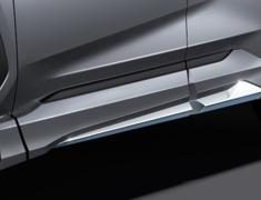 RAV4 Hybrid - AXAH52 - Side Skirts - Construction: ABS - Colour: Attitude Black Mica: C0 - Colour: Gray Metallic: B1 - Colour: Silver Metallic: B0 - Colour: White Pearl Crystal Shine: A0 - D2611-60110-##