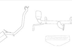 Jimny - JB64W - Pieces: 2 - Pipe Size: 50-2x50mm - Tail Size: 2x90mm - 10193800