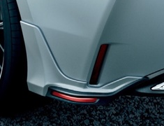 Corolla Touring - NRE210W - Rear Side Spoilers - Construction: PPE - Colour: Black Mica (209) C0 - Colour: Sparkling Black Pearl Crystal Shine (220) C1 - Colour: White Pearl Crystal Shine (070) A0 - MS343-12016-##
