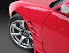 180SX - RS13 - Front Fenders (+30mm) - Construction: FRP - Colour: Unpainted - GCOR-F180SXT1-FF