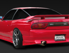 180SX - RS13 - Rear Bumper Spoiler - Construction: FRP - Colour: Unpainted - GCOR-F180SXT1-RBS