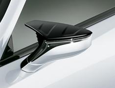 LC500 - URZ100 - Aerodynamic Mirror Covers - Construction: ABS - Colour: Black (212) - MS329-00001