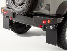 Jimny Sierra - JB74W - Rear Bumper for SIERRA - Colour: Coarse Matte Black - DAMD-JSLD-RB