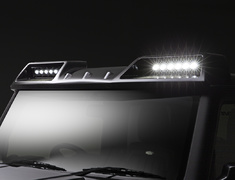 Jimny - JB64W - Front Roof Spoiler w/ LED Lamps - Construction: FRP - Colour: Unpainted - WALD-JSLBBE-FRS