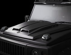 Jimny - JB64W - Bonnet Scoop Cover - Construction: FRP - Colour: Unpainted/Metal Hood Badge (A Type) - Colour: Unpainted/Metal Hood Badge (B Type) - WALD-JSLBBE-BSC