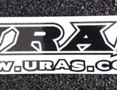 Universal - URAS & Address Sticker - Size: 220 x 48mm - Colour: Black - Colour: Blue Mirror - Colour: Silver Mirror - Colour: White - 30401-30302
