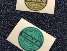 Universal - Emblem Print Sticker - Size: ~50 x 50mm - Colour: Gold and Green set - 31621