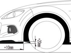 Roadster - NCEC - Front Under Spoiler - Construction: FRP - Colour: Piano Black - MNC2150