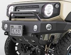 Jimny Sierra - JB74W - Front Bumper + Under Guard (with internal fog lamp) - Construction: Upper: aluminum / Lower: steel - Colour: Raptor Paint Finish - AIM-MT8FBUG-JB74W