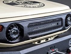 Jimny Sierra - JB74W - LED Light Bar Grill (with LED Light Bar) - Construction: ABS - Colour: Raptor Paint Finish - AIM-MT8LLBG-JB74W