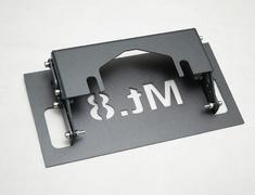 Jimny Sierra - JB74W - License Plate Bracket - Construction: Steel - Colour: Raptor Paint Finish - AIM-MT8LPB-JB74W