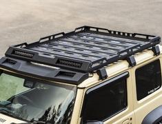 Jimny Sierra - JB74W - Roof Rack (set of 4 LED light bars) - Construction: Aluminum - Colour: Powder Paint Finish - AIM-MT8RR-JB74W