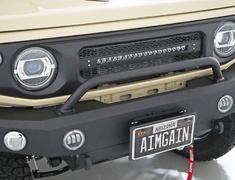 Jimny Sierra - JB74W - Stinger Bar - Construction: Aluminum - Colour: Raptor Paint Finsh - AIM-MT8SB-JB74W