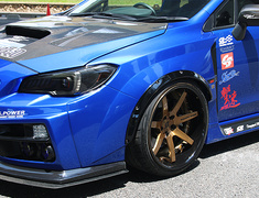 WRX S4 - VAG - Front Wide Blister Fender +30mm Ea. - CahrgeSpeed Wide Body Kit Front Bumper ONLY - Construction: FRP - Colour: Unpainted - CS-FWBF30-VA