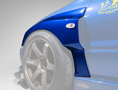 Lancer Evolution IX - CT9A - Front Fenders - Construction: FRP - Colour: Unpainted - HAM006