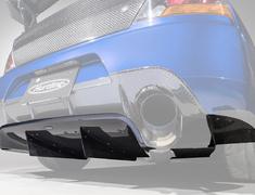 Lancer Evolution IX - CT9A - Rear Diffuser ~VARIS Collaboration Version~ - Construction: Carbon - HAM003C