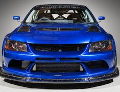 Lancer Evolution IX - CT9A - Front Bumper + Front Lip - Construction: FRP + 12K Carbon - Colour: Unpainted - HAM004C