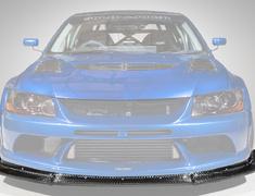 Lancer Evolution IX - CT9A - Front Lip - Construction: FRP + 12K Carbon - Colour: Unpainted - HAM005C