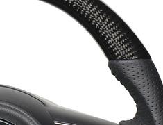 Jimny - JB64W - Type: Soft D Shape - Color: Black Carbon - Stitch: Black - SZB-BKC-BK