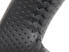 Jimny - JB64W - Type: Soft D Shape - Color: Black Wood - Stitch: Black - SZB-BKW-BK