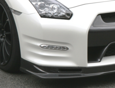 GT-R - R35 - Carbon Front Lip and Brake Duct Set - Construction: Carbon - KAN092A