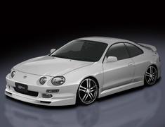Celica GT-Four - ST205 - 3 Piece Set: Front Under Spoiler + Rear Under Spoiler + Side Steps - Construction: FRP - Colour: Unpainted - EUR-ST205L-3PS
