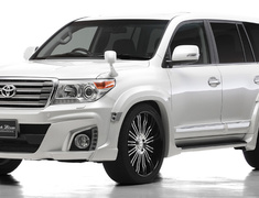 Land Cruiser - URJ202W - 2 Point Kit: Front Bumper Spoiler + Rear Bumper Spoiler - Colour: Unpainted - WALD-URJ202LATE-2PS