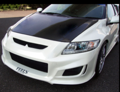 CR-Z - ZF1 - Lightweight Bonnet (Normal Shape) - Construction: Carbon (Twill Weave) - FEELS-APZF-LBNCT