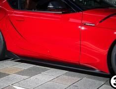 Supra A90 RZ - DB42 - Side Steps - Construction: FRP - Colour: Matte Black - SUP-SID-000