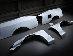 Silvia - S15 - Full Wide Fender Set - Material: FRP - Type: Unpainted - 326P-GBMS15-FWFS