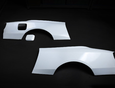 Silvia - S15 - Rear Wide Fenders - Material: FRP - Type: Unpainted - 326P-GBMS15-RWF