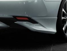Camry - AXVH70 - Rear Side Spoilers - Construction: PPE - Colour: Attitude Black Mica (218) >>> C0 (Metallic Silver) - Colour: Platinum White Pearl Mica (089) >>>A1 (Black) - MS343-33001-##