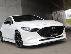 Mazda3 Fastback - BPFP - Front Spoiler + Front Splitter - Construction: Urethane/Carbon (Twill) - Colour: Unpainted - 20-3009