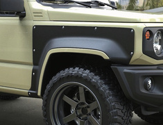 Jimny Sierra - JB74W - Material: FRP - Type: Front + Rear - Width: 90mm - Color: Unpainted - jimny74-e003