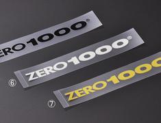 "Universal - #6 ""ZERO1000"" alphabet logo sticker S size - Size: 13mm x 150mm - Colour: Silver - 702-A017"