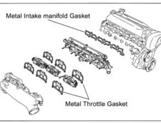 RB26DETT - Type: Intake-Manifold Gasket - Thickness: 0.38mm - 131002