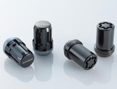 Nissan - Colour: Black - Thread: M12x1.25 - Length: 31.5mm - Quantity: 16 Nuts + 4 Locks - 40220-RN850