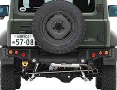 Jimny Sierra - JB74W - Material: Stainless Steel - Pieces: 3 - Pipe Size: 42.7mm / 50.8mm - Tail Size: 76.3mm - 2004-03S